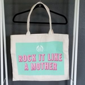 NWOT The Body Shop Rock it Like a Mother Tote.